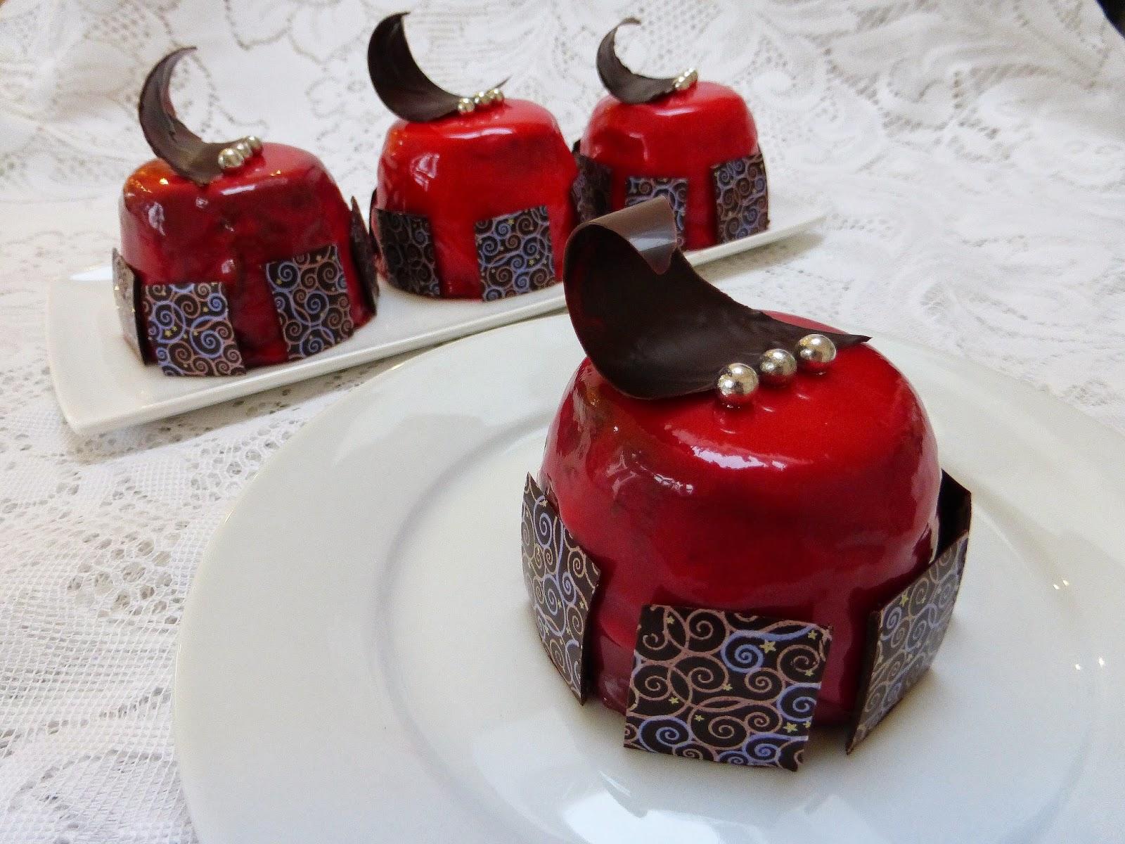 Strawberry chocolate entremet recipe for Decoration entremet