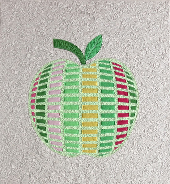 raw edge applique apple quilt pattern