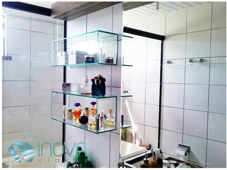 Inova Vidros Espelho, Nicho e Vidro Pintado -> Nicho Banheiro Prateleira Vidro