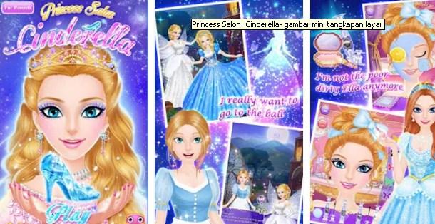 Download Game Permainan Anak Perempuan Princess Salon Cinderella