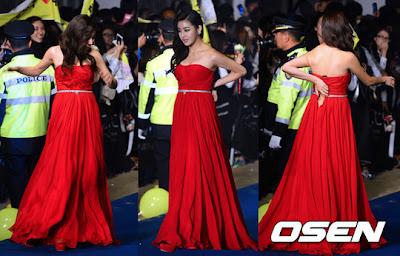 Aktris Kang Sora mengalami kejadian yang cukup memalukan saat menghadiri event Busan International Film Festival (BIFF) baru-baru ini
