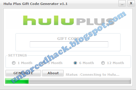 Hulu Plus Premium Account Generator v1.1 2013