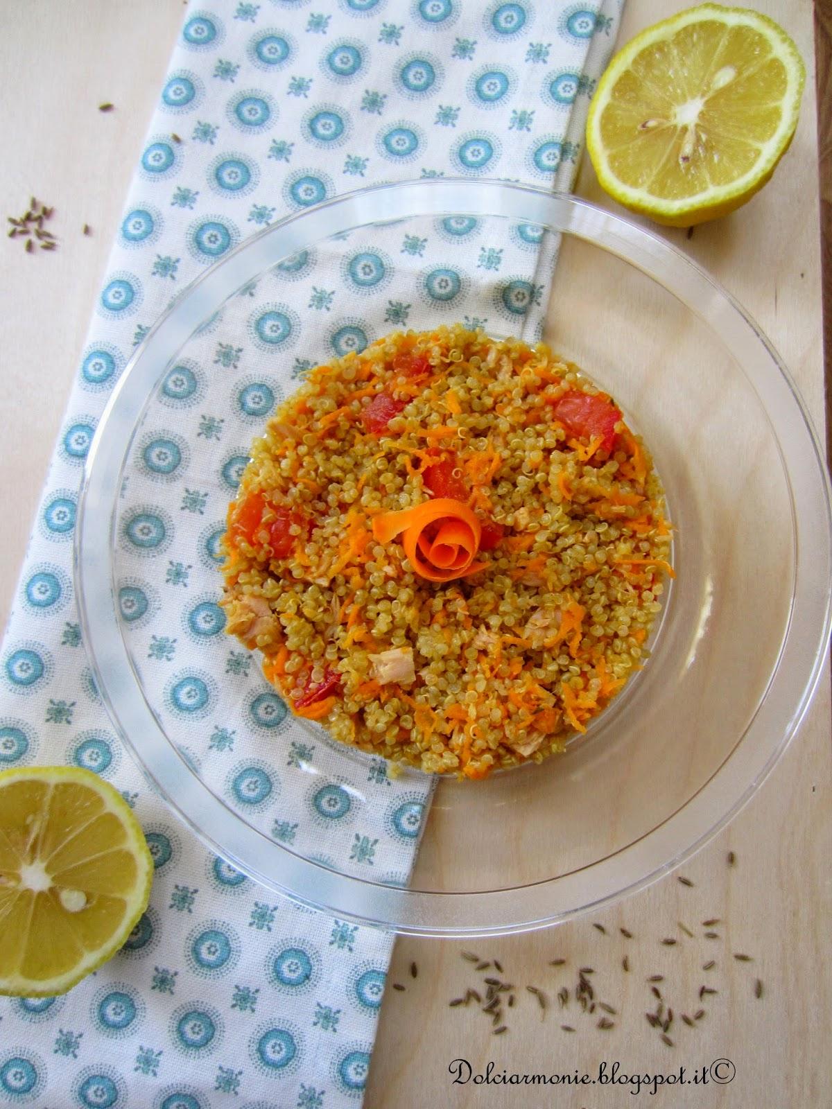 insalatina speziata di quinoa