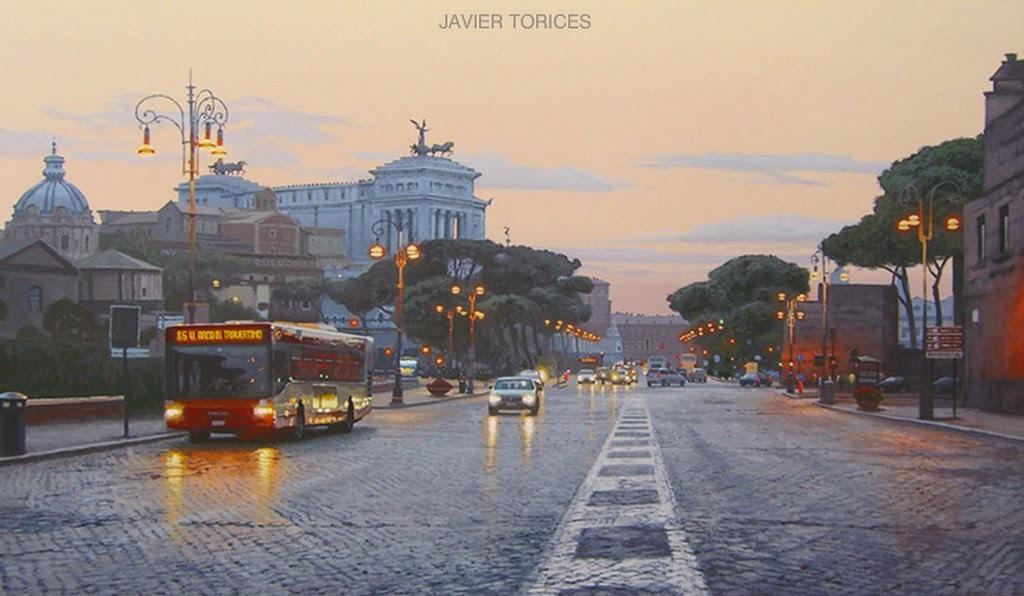 Cuadros modernos pinturas y dibujos paisajes de madrid - Pintores de madrid ...