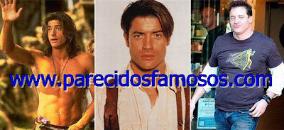 Brendan Fraser Famosos antes y después