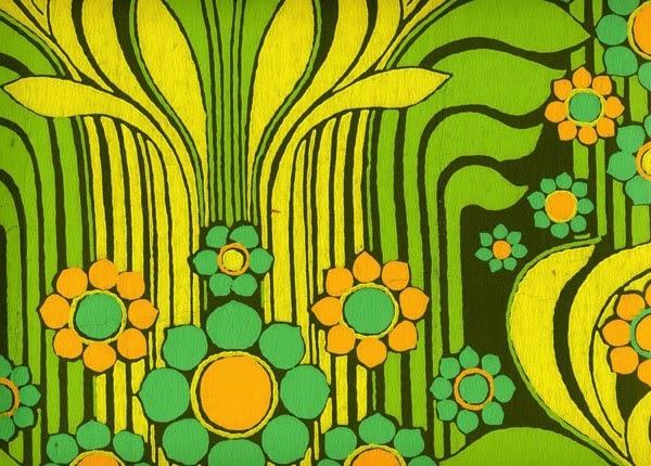 gallery for 1960s flower wallpaper
