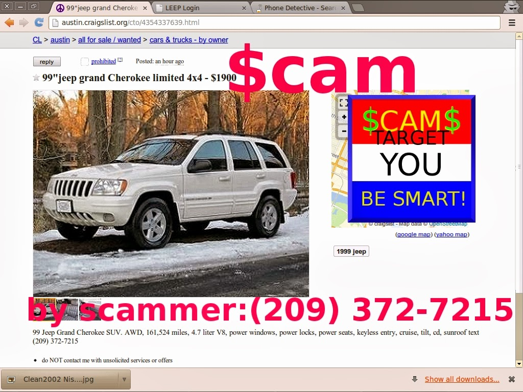 Scam ads with email addresses and phone numbers posted 02 28 14 austin craigslist cars