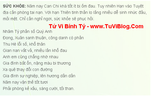 Xem Tuoi Binh Ty Nam 2016