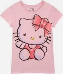 Gambar Baju Hello Kitty Kaos Pink Merah Jambu