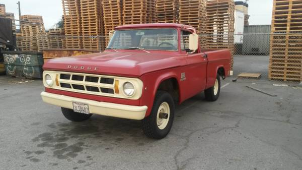 1969 Dodge Power Wagon W100 4wd Truck 4x4 Cars