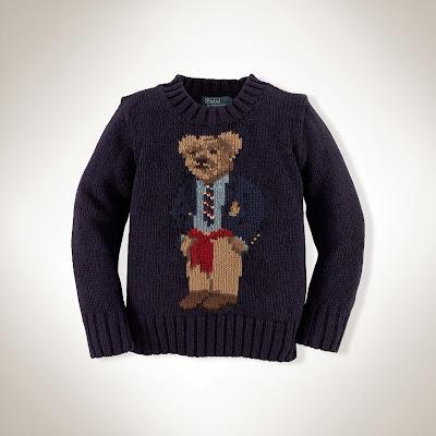 Boys Polo bear sweater