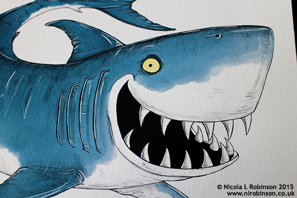 Shark Illustration © Nicola L Robinson 2015 www.nlrobinson.co.uk