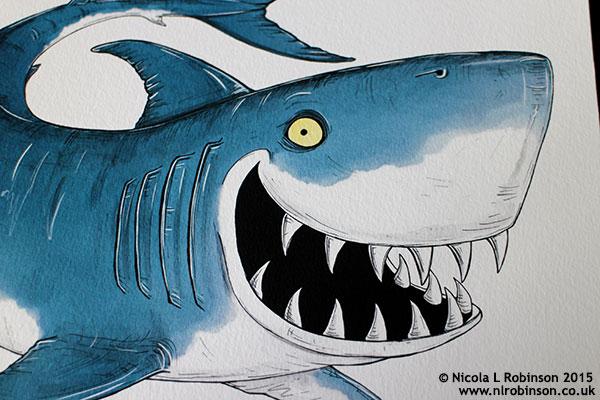 Shark Illustration © Nicola L Robinson 2015 www.nlrobinson.co.uk
