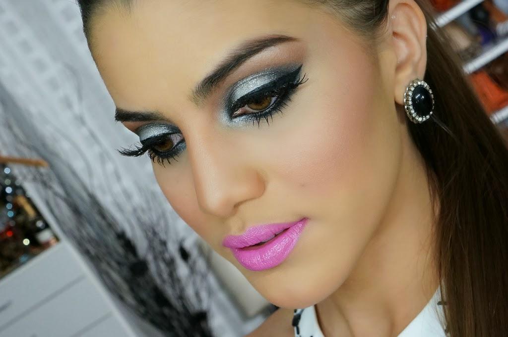 Maquiagem para vestido azul turquesa
