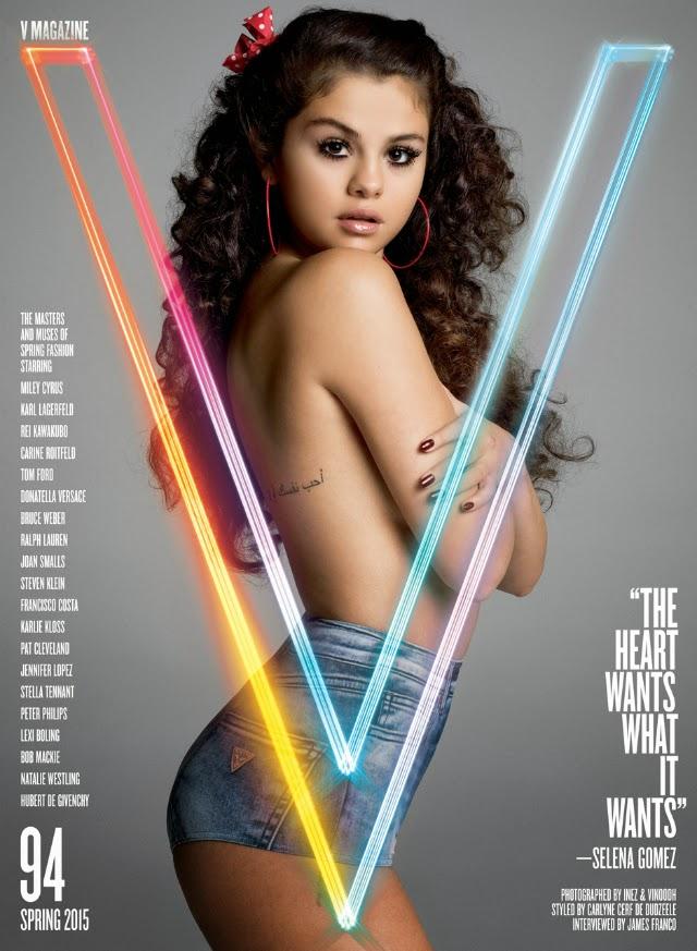 Selena Gómez hace topless para V Magazine