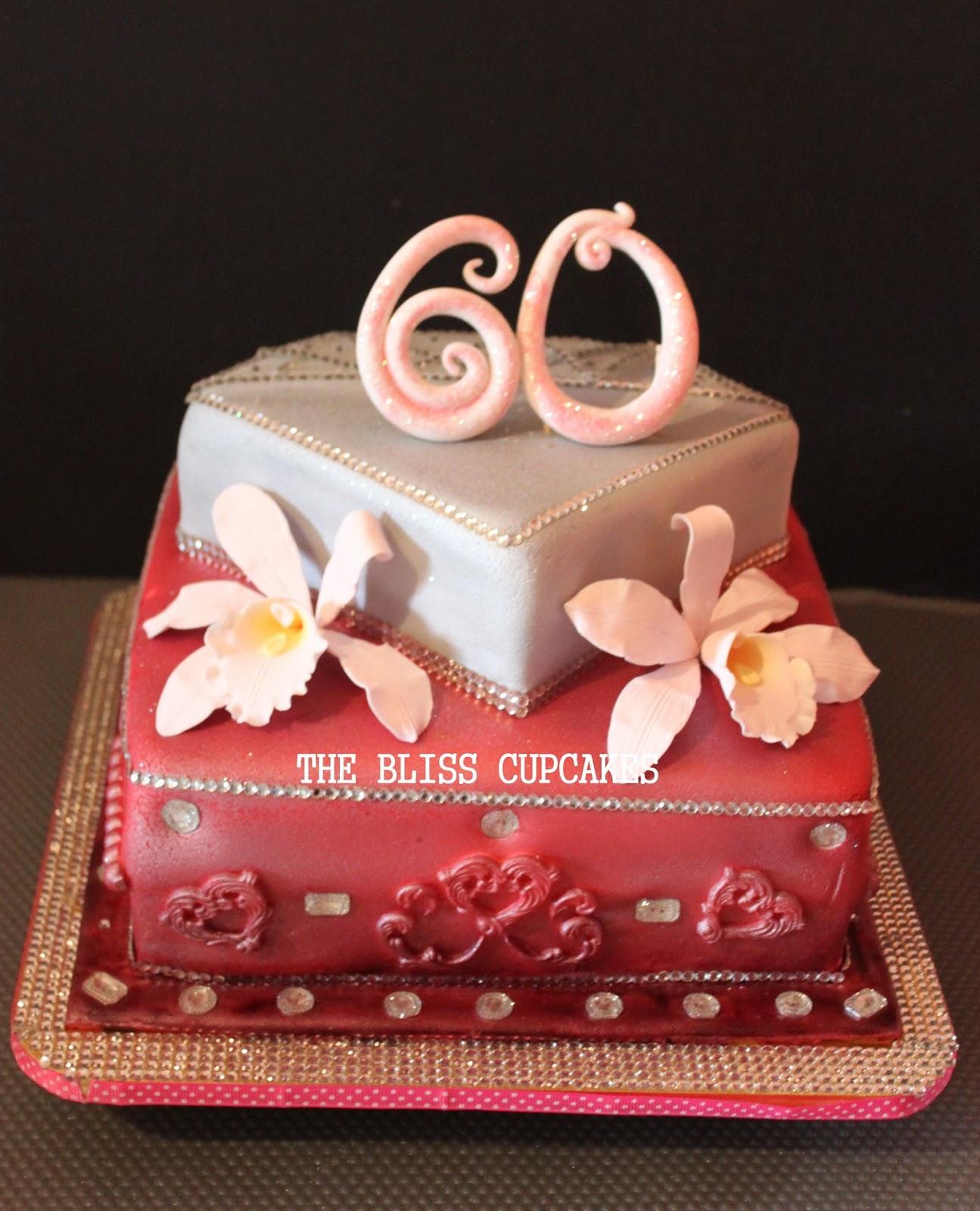 The Bliss Cupcakes 60th Bling Bling Birthday Cake