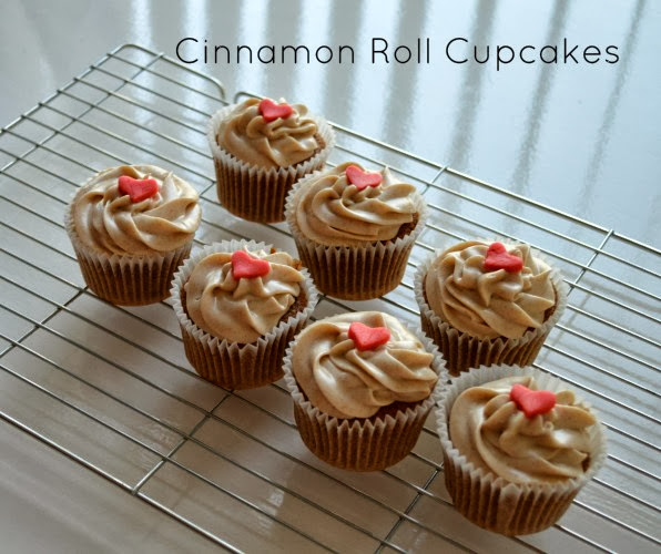 Cinnamon Roll Cupcakes from Lovely and Loving
