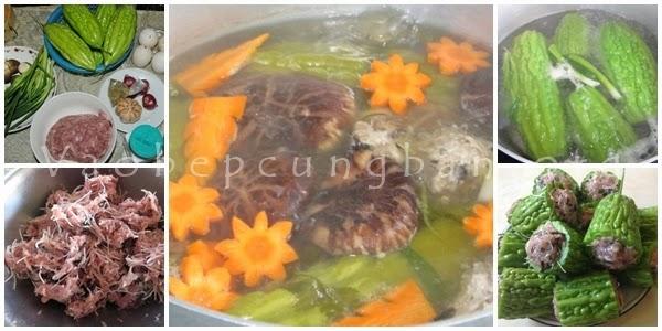 Cách nấu canh khổ qua (mướp đắng) nhồi thịt2