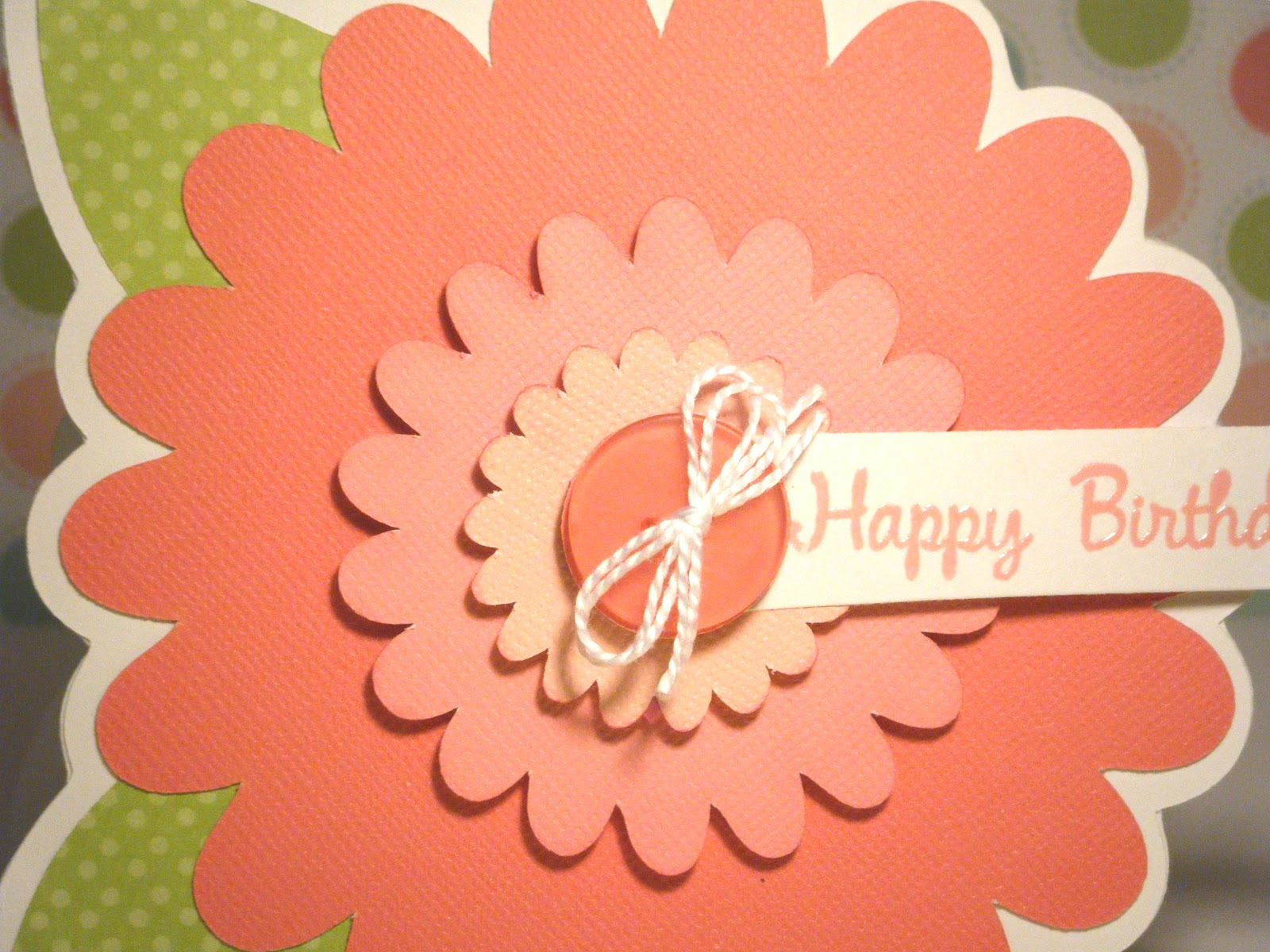 Pink and Paper Flower Happy Birthday Cards