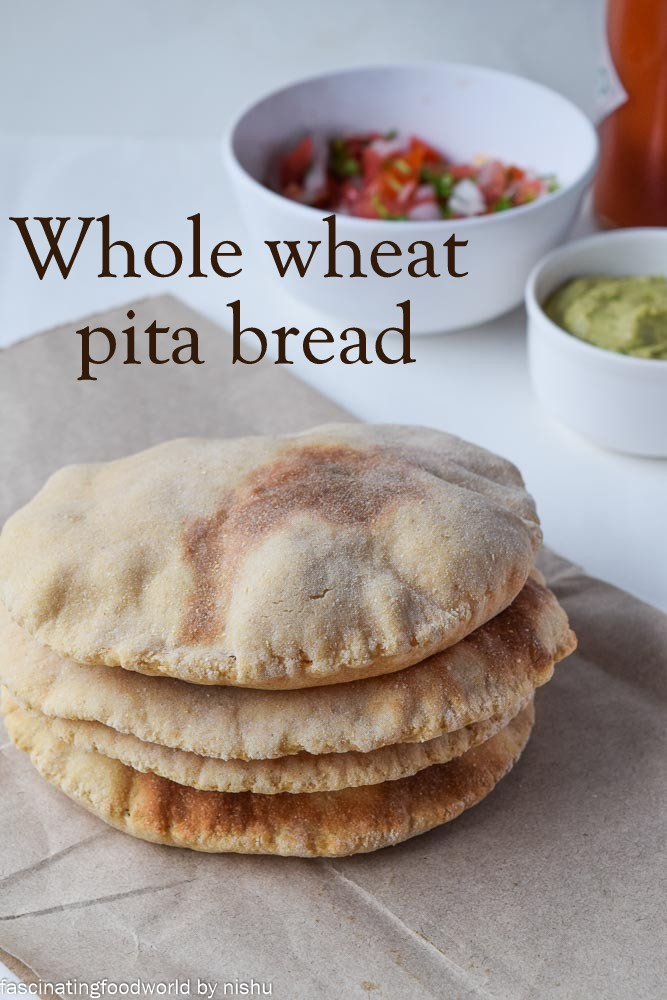 Incase you try making whole wheat pita bread, don't forget to take a ...