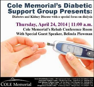 4-24 Cole Memorial's Diabetic Support Group