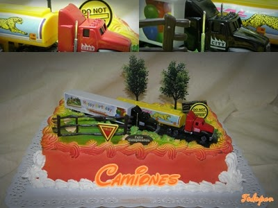 tarta set camiones