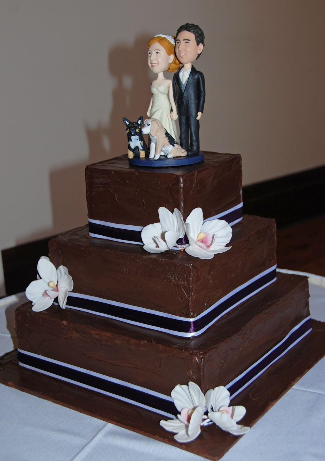 Little Robin Chocolate Ganache Wedding Cake