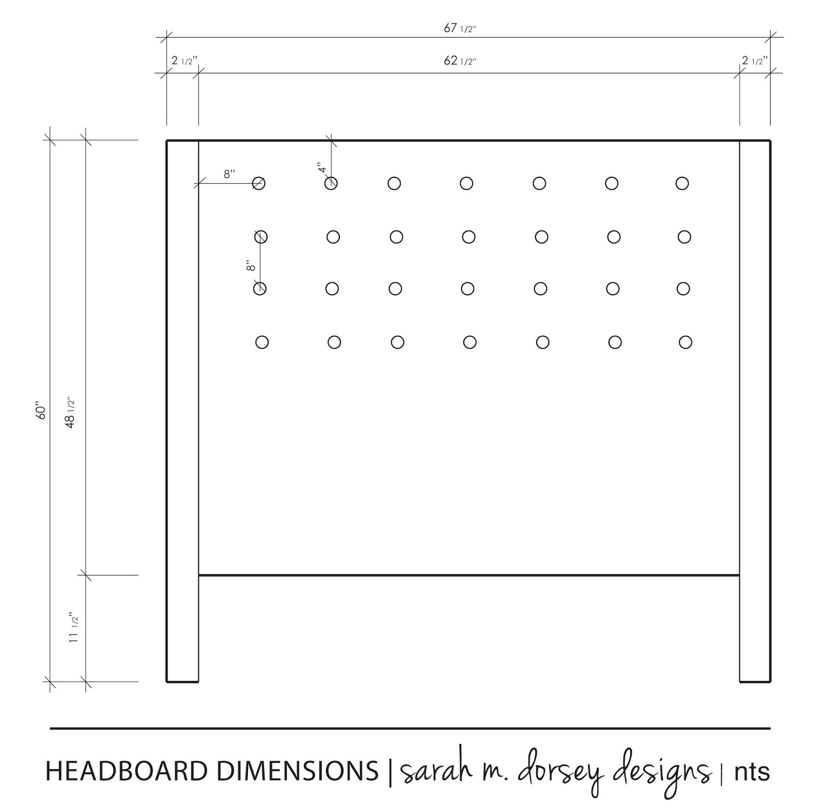 diy headboard complete dorsey designs. Black Bedroom Furniture Sets. Home Design Ideas