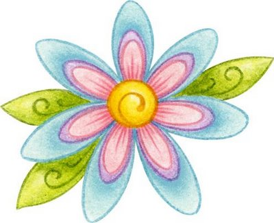 dibujos de flores de colores