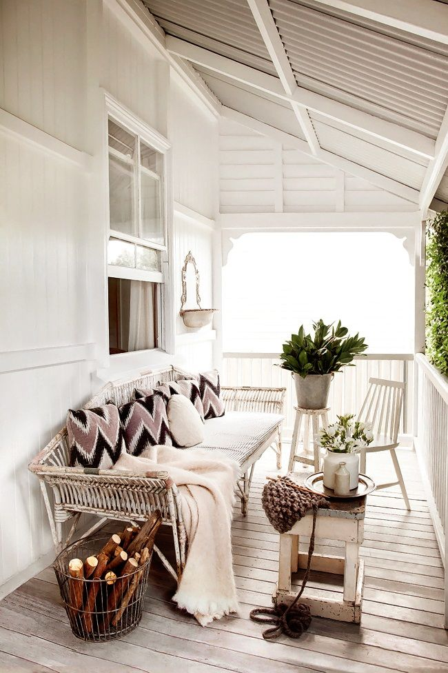 whitewashed floor porch