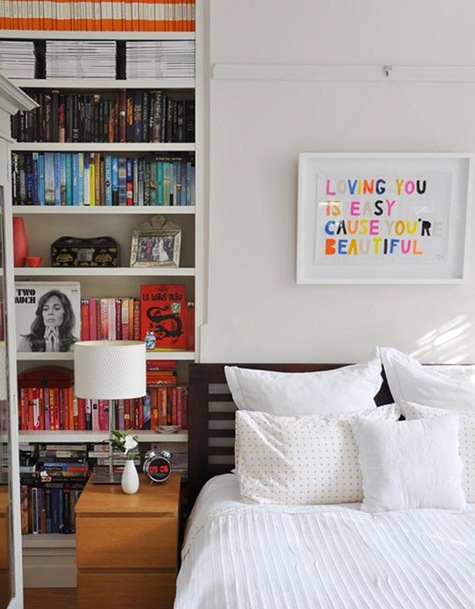 Devaneios Fabiflower 05 17 11: how to store books in a small bedroom