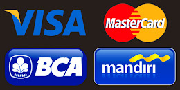 We accept these major credit cards