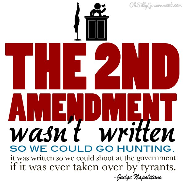 interpretation of the second amendment The second amendment is not about hunting and it's not about defense of your property the second amendment was written by men who ultimately believed that governments and armies would turn.