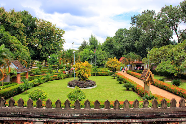Jardins Wat Phra Keo Ho - Vientiane - Laos