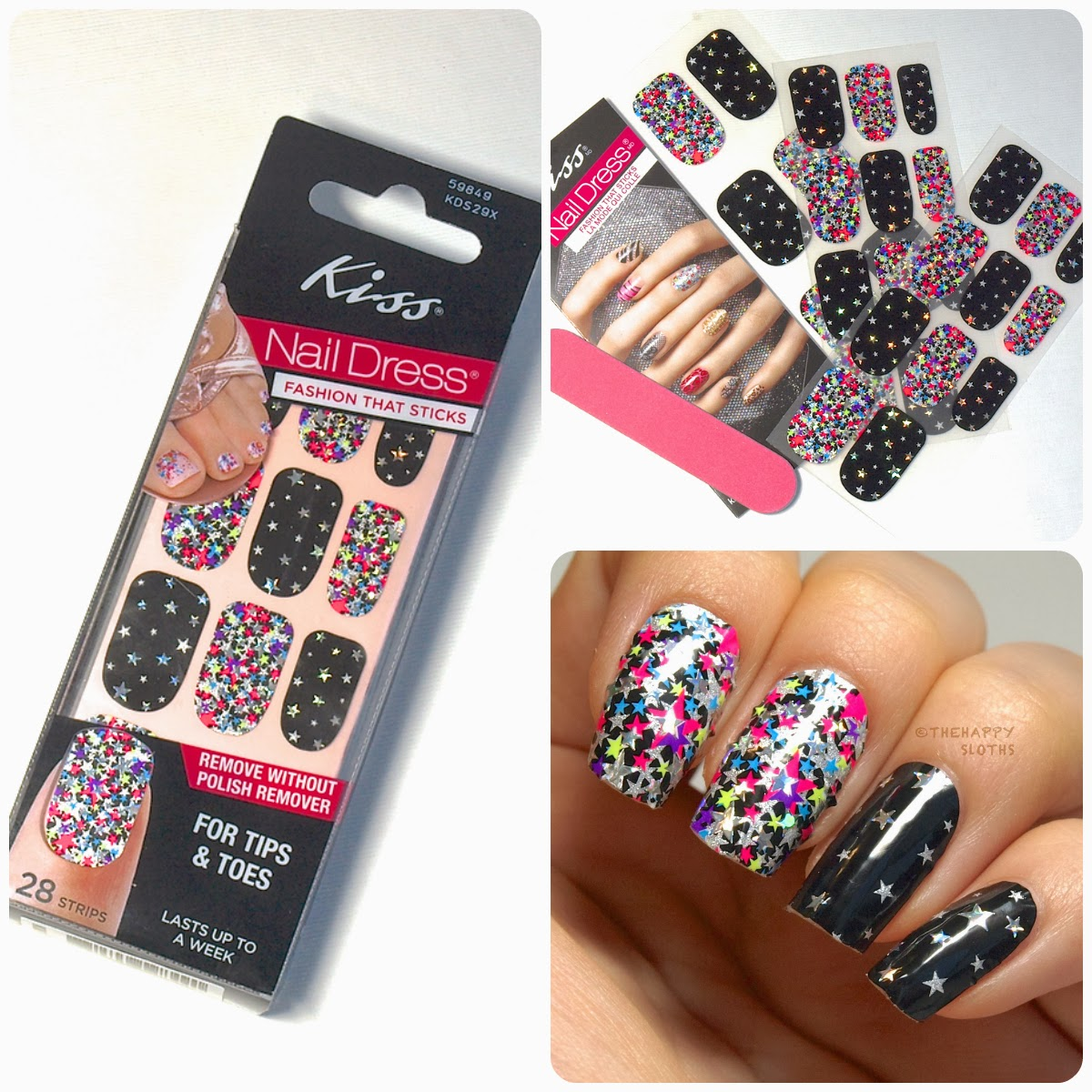 Kiss Nail Dress Nail Strips: Review and Swatches | The Happy Sloths ...