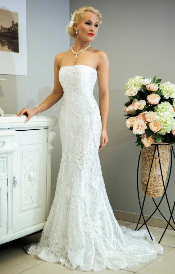 Miss Evita Crochet Wedding Dress - Affordable Wedding Dresses: Crochet