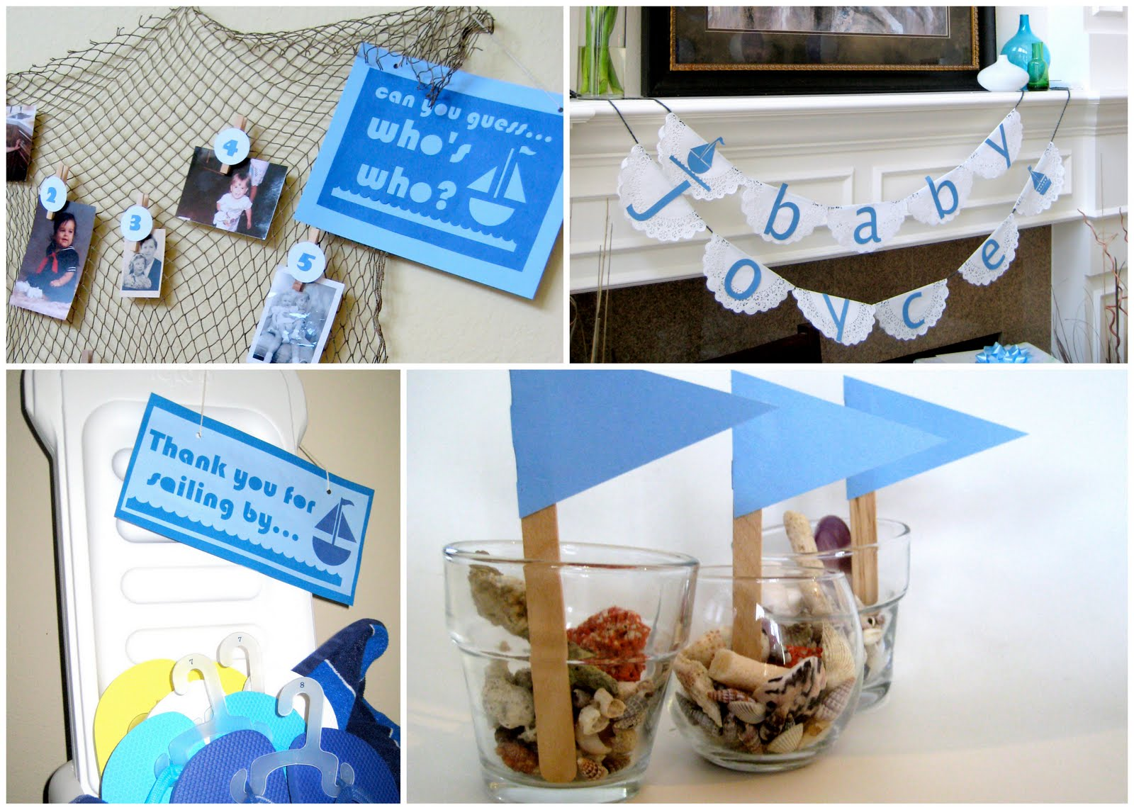 beach inspired baby shower c r a f t