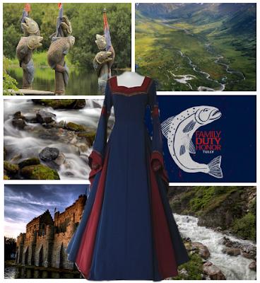vestido con aguasdulces de fondo - Juego de Tronos en los siete reinos