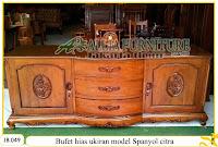 Buffet kayu jati pajangan ukiran spanyol citra
