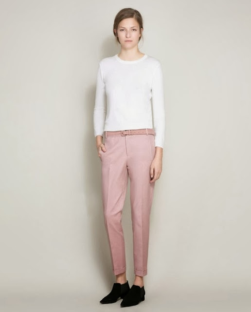 Classy attire in pink hue