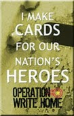 I made cards for Soldiers