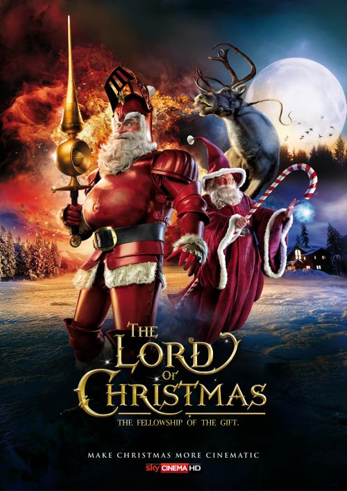 sky propaganda natal papai noel filmes de ação poster lord of the rings