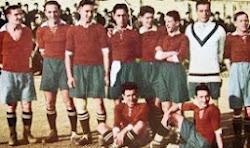 La selección de fútbol en Sevilla.
