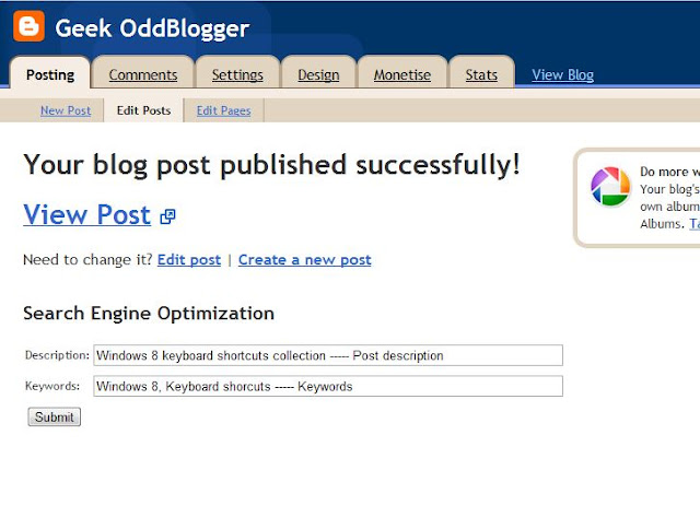 SEO plug in for Blogger blogs