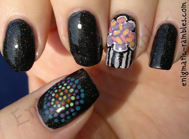 birthday-nails-cupcake-muffin-fireworks-explosion-barrym-multi-glitter-jessica-holographic-topcoat