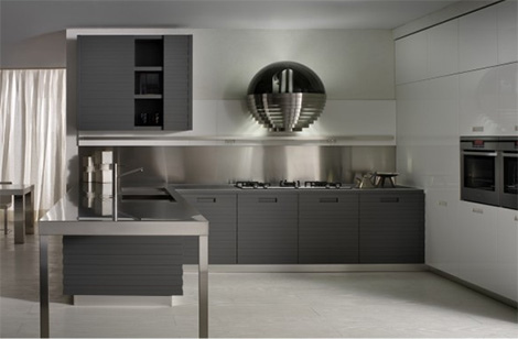 New decorations for kitchens 2013 for Black and silver kitchen ideas