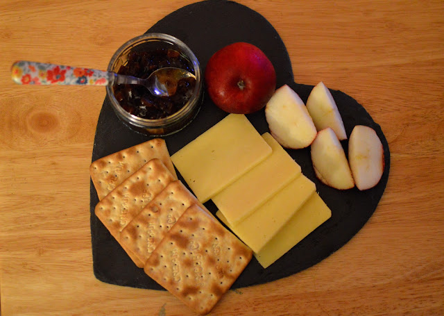 Heart slate serving dish cheese board