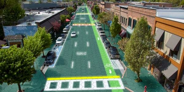 Future Streets can Rechargeable Electric Cars