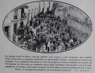 Imagen de la época obtenida en la web de La Colmena bejarana