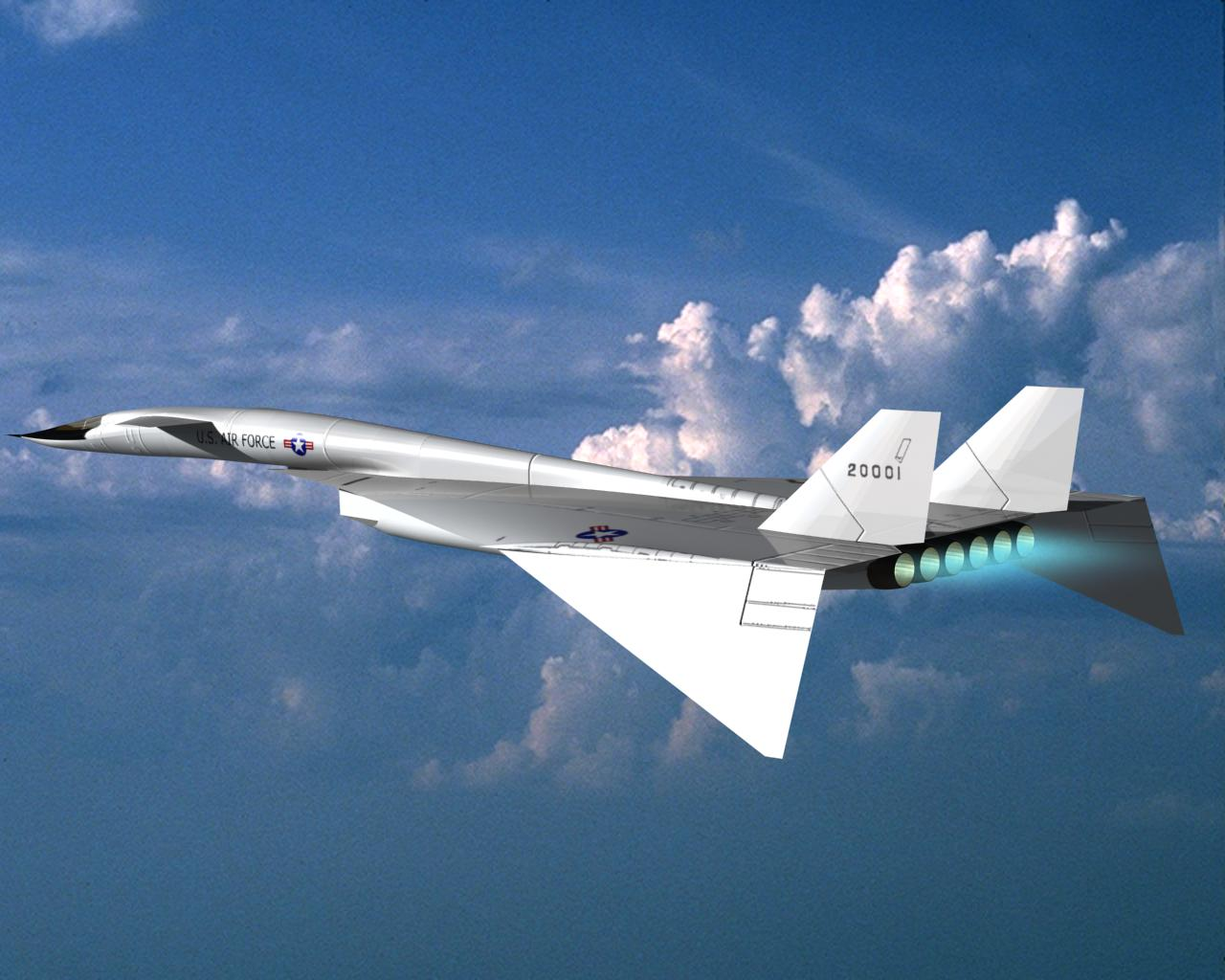 المشاريع العسكرية الأمريكية الملغات  - صفحة 2 XB-70+Valkyrie-4